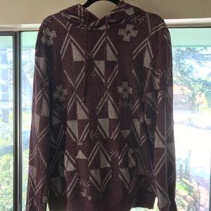 Gray tribal pattern hoodie hoody on the byas
